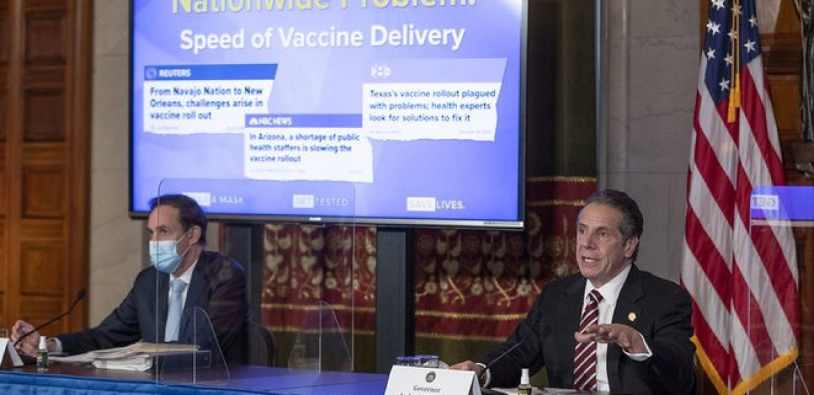 """Coronavirus Updates: Cuomo Tells Hospitals With Vaccine To """"Use It Or Lose It"""""""